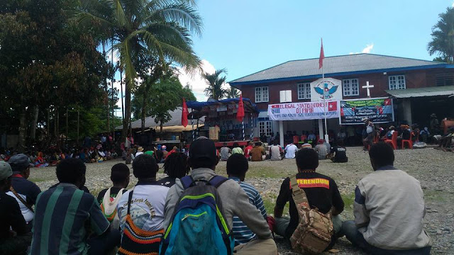 Aksi 1 Mei 2017 di timika (2)